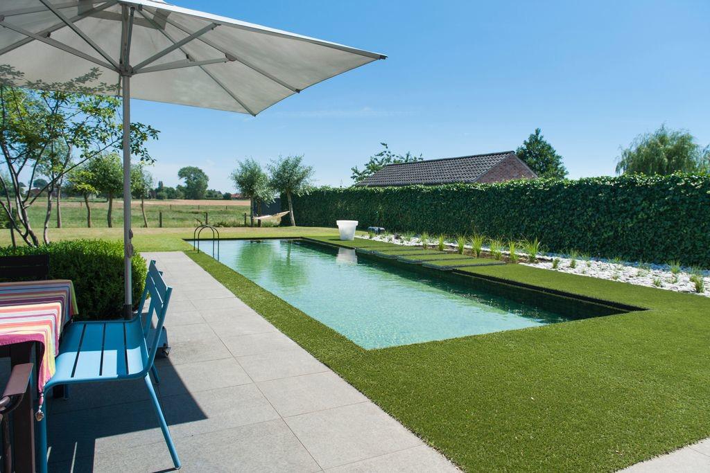 Zwembad van puur pool strak bio zwembad met filterzone for Zwemvijver afmetingen