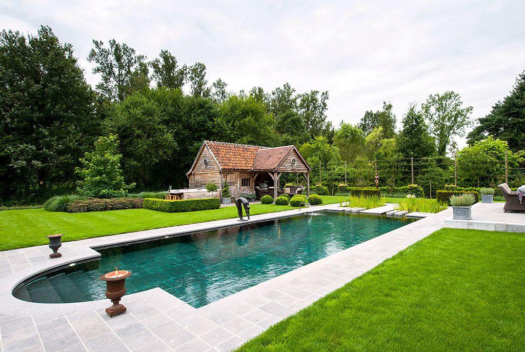 Zwembad van t groene plan hybride zwemvijvers en prachtige