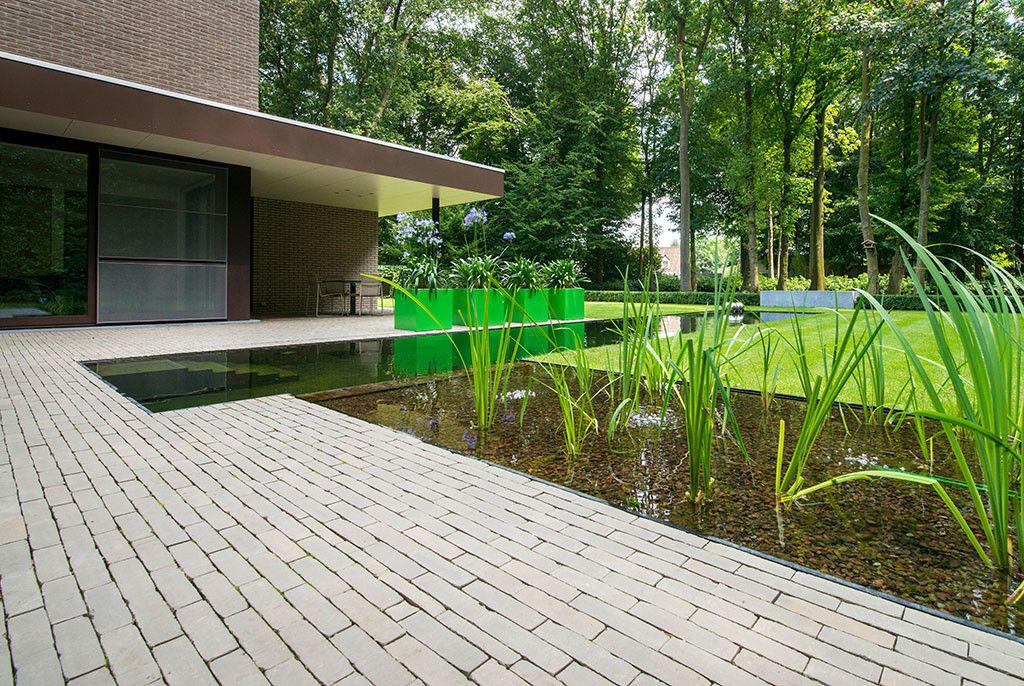Realisatie van biopool vijver weerspiegelt fraaie tuin for Zwemvijver afmetingen