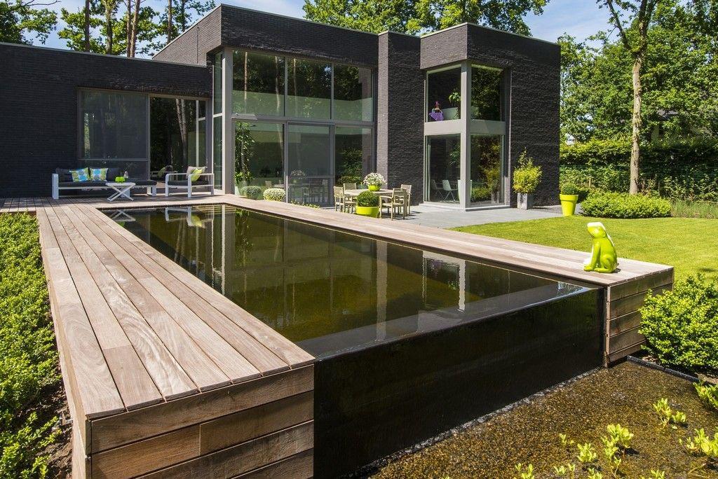 Realisatie van tuinen joos bvba infinityblik zwembadenplus for Zwemvijver afmetingen